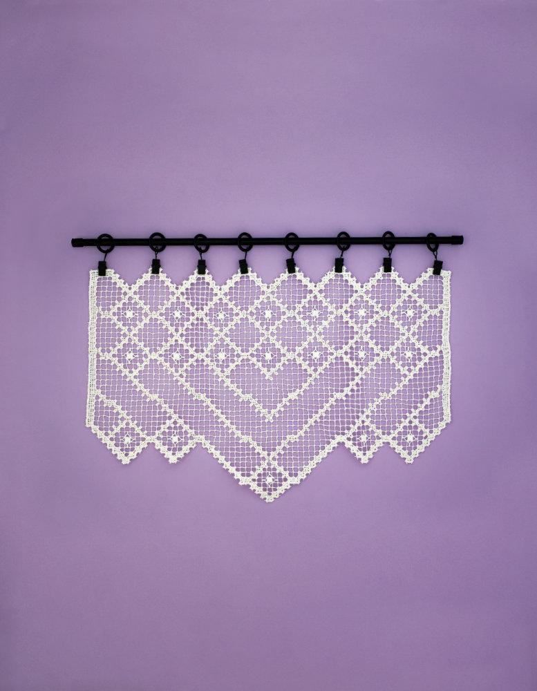 Embroidered Half-Curtains on Tied Nets